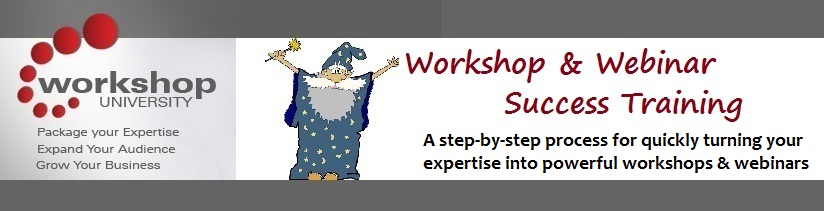 Learn how to turn your expertise into powerful workshops and webinars with the Workshop and Webinar Success Training